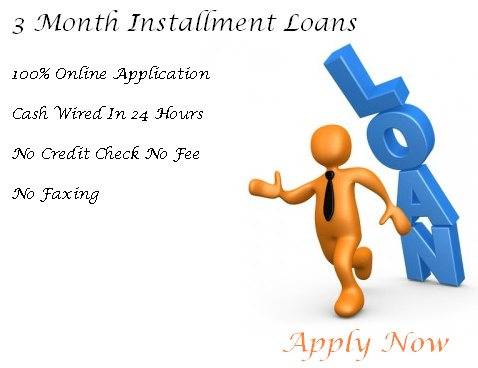When you are in bad credit and need money for resolve your financial problems. You can easily borrow the cash with us, Just apply for 3 month installment loans and get free from all financial worries.