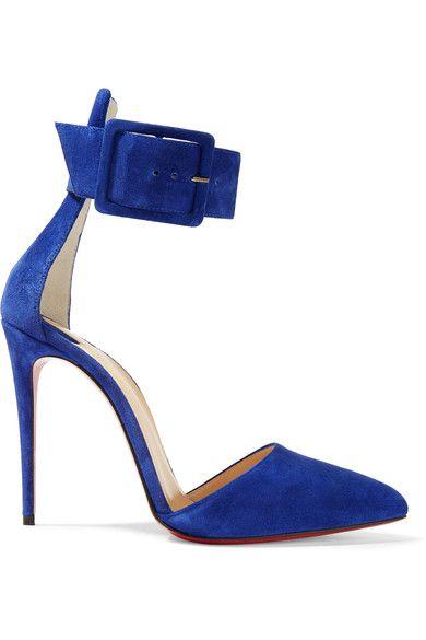 Christian Louboutin - Harler 100 Suede Pumps - Royal blue - IT40.5