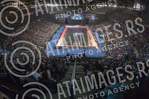 Prva utakmica na Evropskom prvenstvu u Futsalu (UEFA FUTSAL EURO 2016) odigrana izmedju Srbije i Slovenije (Serbia vs Slovenia) u Beogradskoj areni (Kombank arena).