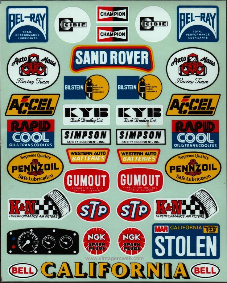 This great collection of vintage decal sets for r c buggies from the make for some wonderfull eye candy all recreated by vrc and available for sale from