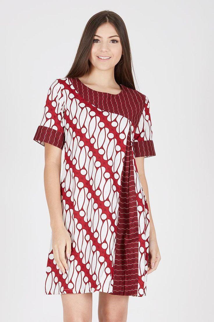 Sell Blouse Batik Parang Liris Merah Batik-print | Berrybenka.com