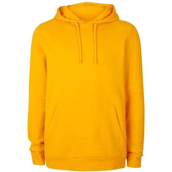 TOPMAN Yellow Classic Fit Hoodie ($31) ❤ liked on Polyvore featuring men's fashion, men's clothing, men's hoodies, yellow, mens hoodies, mens cotton hoodies and mens sweatshirts and hoodies