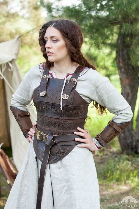 Medieval Leather Armor Corset Shieldmaiden Viking by armstreet