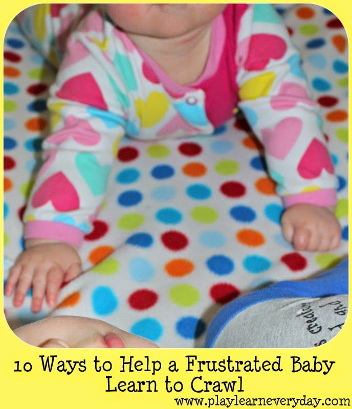 Practical tips to help babies learn the skills that they need to start crawling.