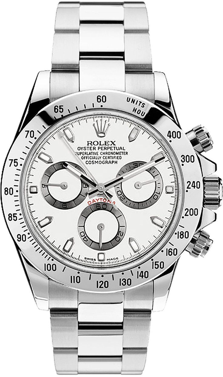 Rolex 116520 Cosmograph Daytona Stainless Steel White Dial Men's 40mm Chronograph
