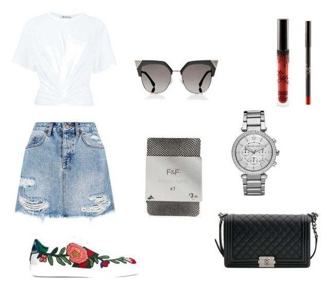 """Untitled #11"" by laczolaura on Polyvore featuring Ksubi, Gucci, Michael Kors, Chanel, T By Alexander Wang and Fendi"