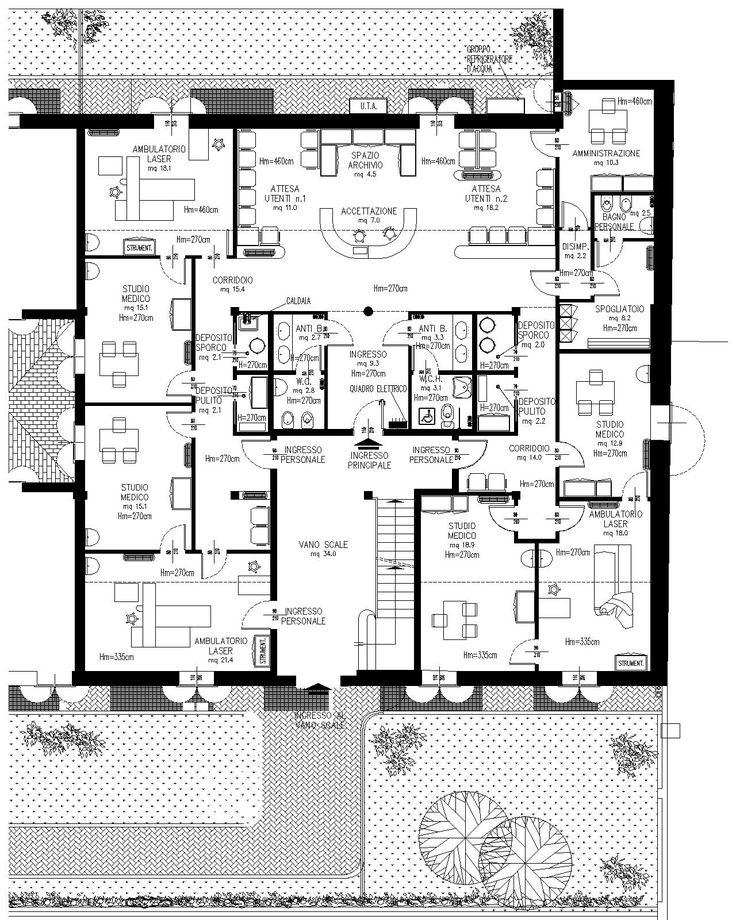 17 migliori idee su studio medico su pinterest sale d 39 attesa for Floor plans for 160 000