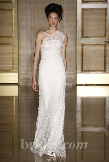 Brides: One-Shoulder Wedding Dresses from Fall 2013