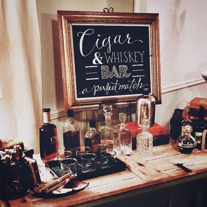 Cocktail hour idea - cigar & whisky bar {Courtesy of Sophie Ryan}