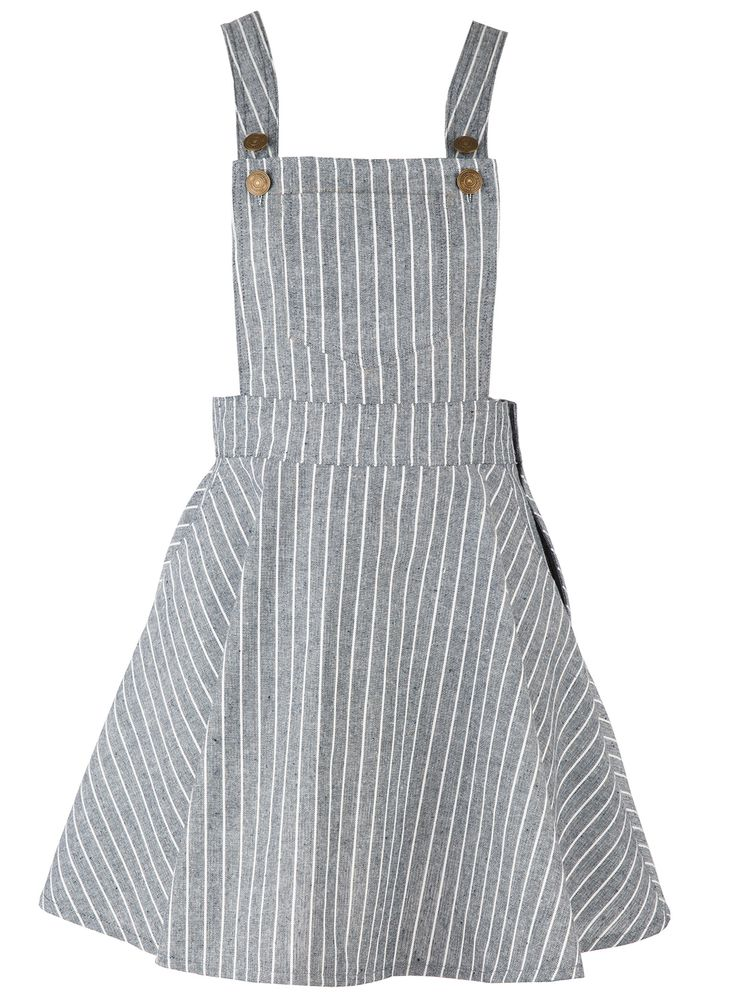 Women's Color Block Striped Adjustable Shoulder Straps Overall Dress.Check more from www.oasap.com .
