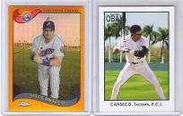 Jose Canseco 2 card lot - Montreal Expos - Free Shipping
