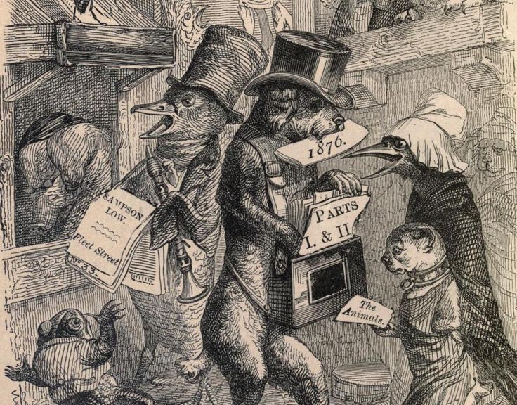 Collection of acerbic animal fables, penned by the likes of Honoré de Balzac and George Sand, and illustrated by the brilliant J. J. Grandville.