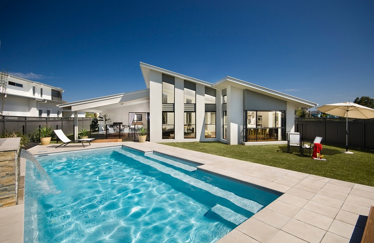 Love summer, love your pool with Limestone from ambertiles.com.au