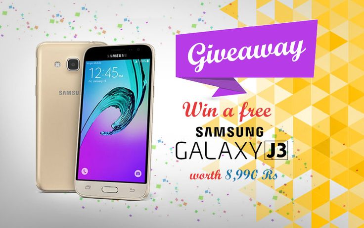 """COUPONHAAT invites you to """"Win a FREE Samsung Galaxy J3 worth Rs. 8,990/-"""".  To Participate Click Here: https://goo.gl/CQyOOS"""