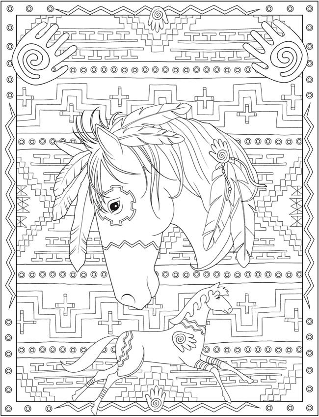 creative haven native american designs coloring book adult coloring