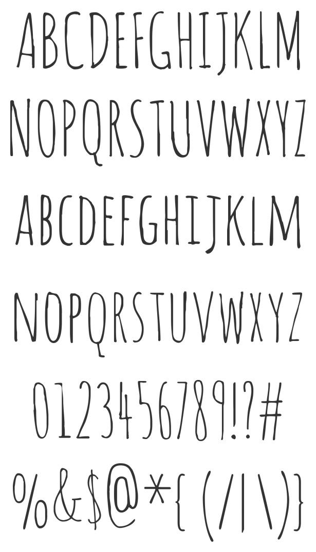 cool free handwritten font: Amatic
