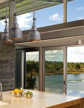 Troy Lighting F2947 Raleigh Old Silver Outdoor Hanging Lantern - midcentury - Kitchen - Chicago - Littman Bros Lighting