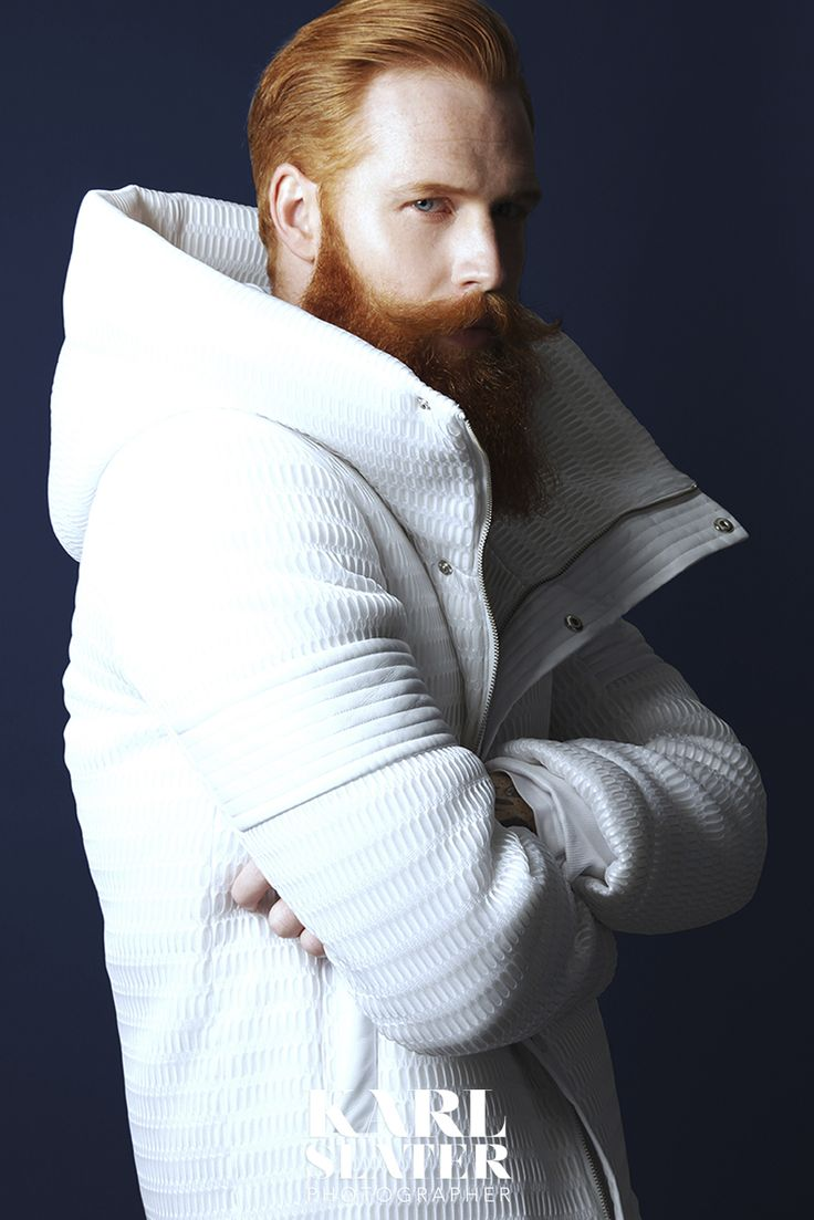This guy is like a red-haired Macklemore with that thrifty white jacket thing. Possibly one of the most magnificent red beards I've ever seen, though.