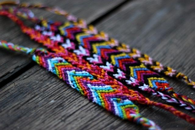 chevron friendship bracelets!