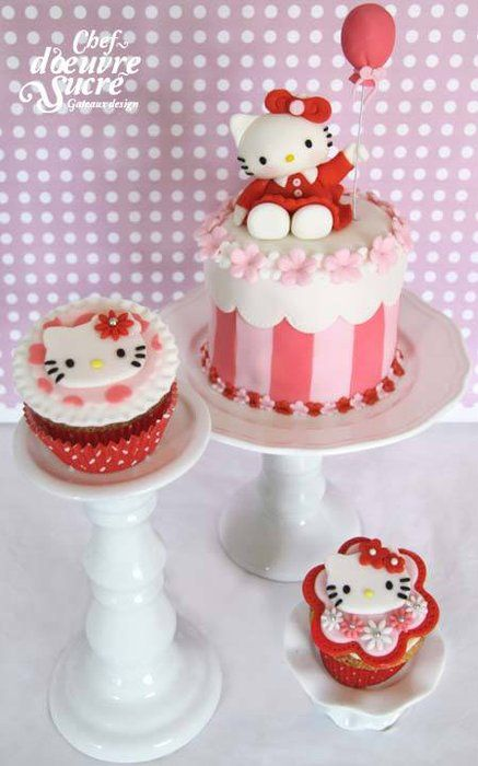 Hello Kitty cake - by Chefdoeuvresucre @ CakesDecor.com - cake decorating website