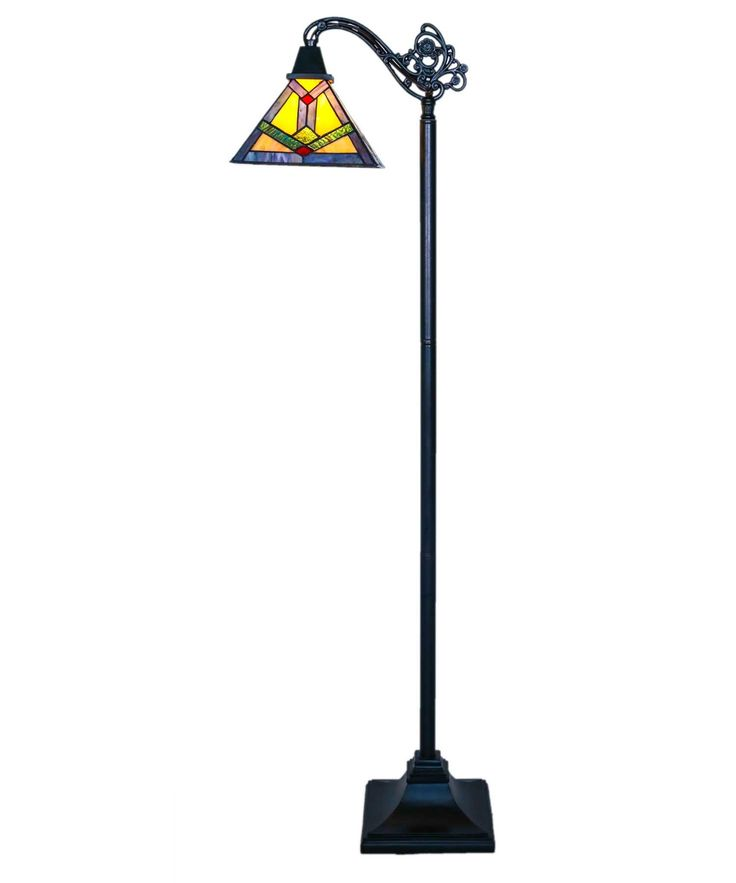 "Southwestern Sunrise Side Arm 60"" H Floor Lamp"