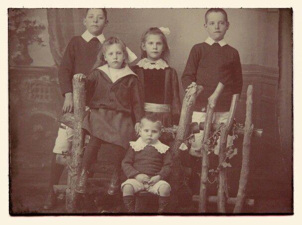 Gerrit Kruger se kinders. Foto geneem so 1910