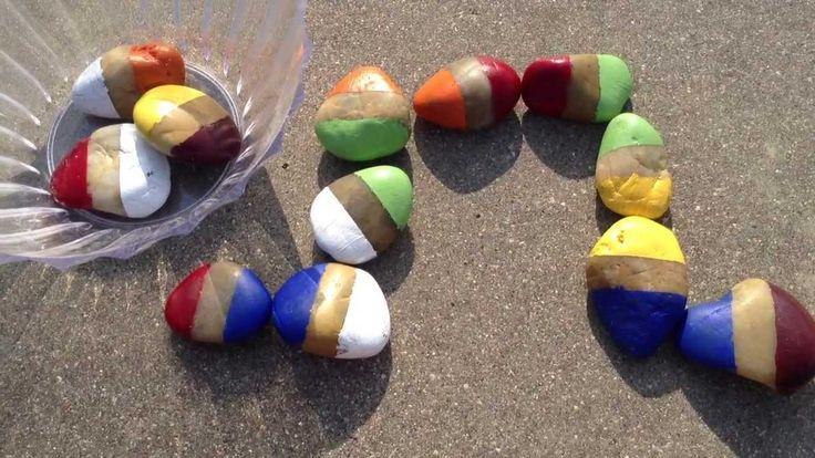 Domino met zelf gekleurde stenen - Hobby.blogo.nl - Hobby.blogo.nl