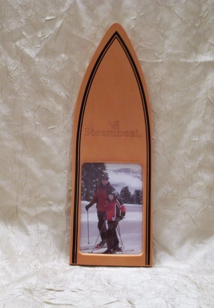 Steamboat Colorado Wooden Ski Engraved Photo Frame