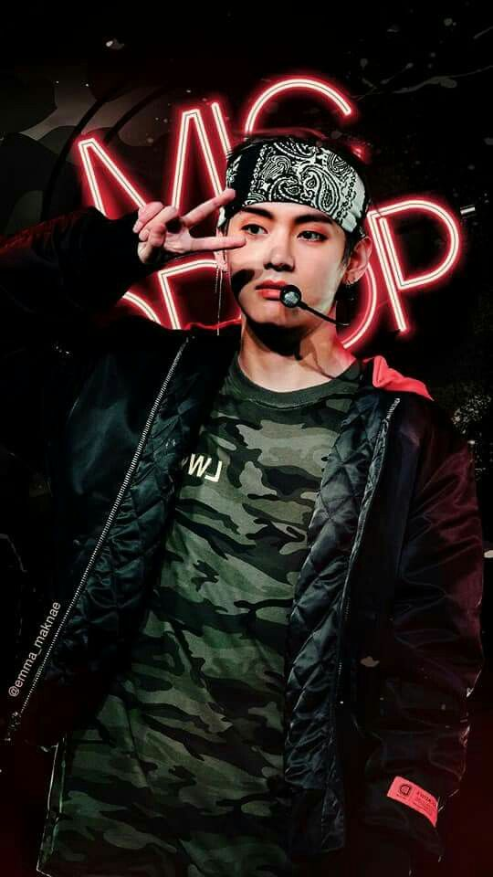 This Mic Drop Wallpaper Omg Credits To The Person Who Made This I