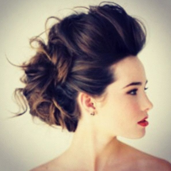 Wedding hair, maybe not quite so voluminous and with braids intertwined and not…