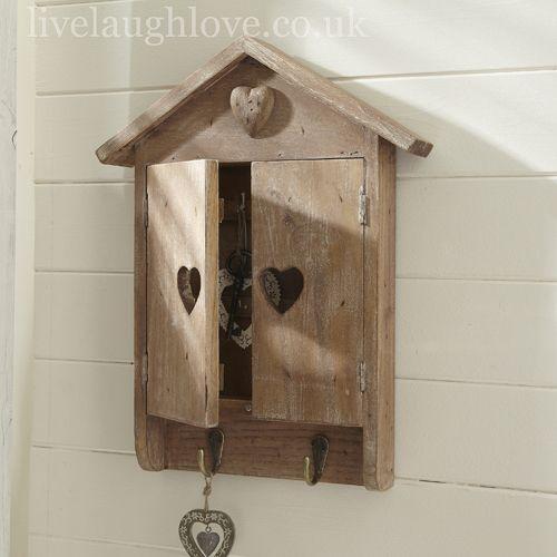 Heart House Key Cupboard - Natural Wood