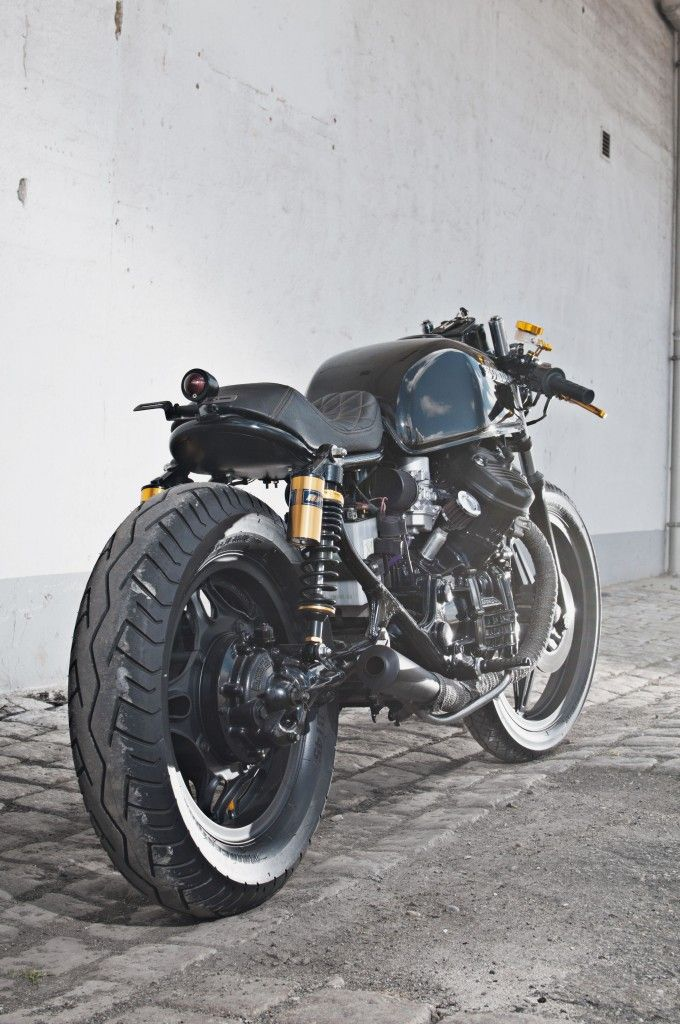 Honda CX500 Gold on Black #honda #motorcycle
