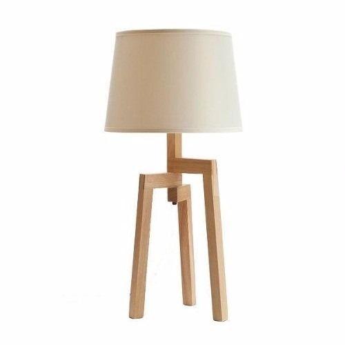 velador o lampara mesa tripode madera paraiso nordica