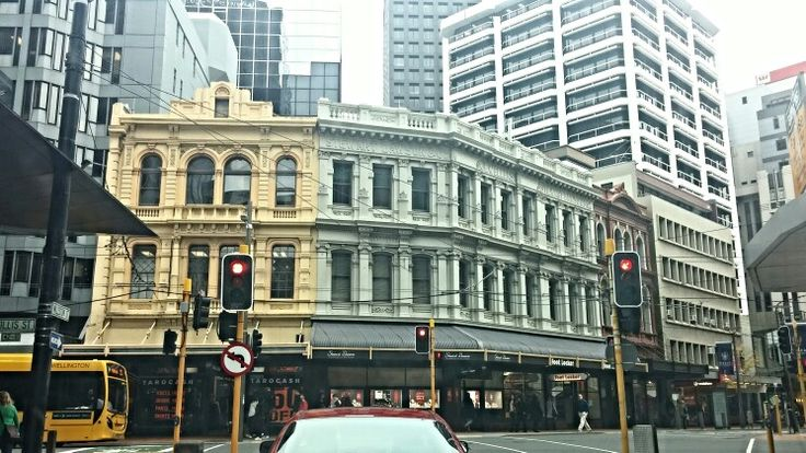 City of Wellington, capital of New Zealand. Beautiful old buildings nestled in with the more modern. Photo Kylie Wetherall