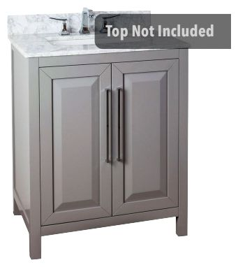 Cade Contempo 30'' vanity with grey finish and clean, leading-edge design VAN100-30
