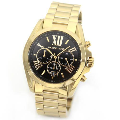 【送料無料】 MICHAEL KORS マイケルコース レディース腕時計 メンズもお薦めサイズ。ポリッシュ&ブラッシュ仕上げのゴールド・カラー・ブレスのクロノグラフ・ウオッチ MK5739 【RCP】【楽天市場】