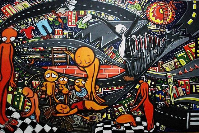 """""""Esquina salguero""""   acrylic on canvas   180 150 cm, available"""