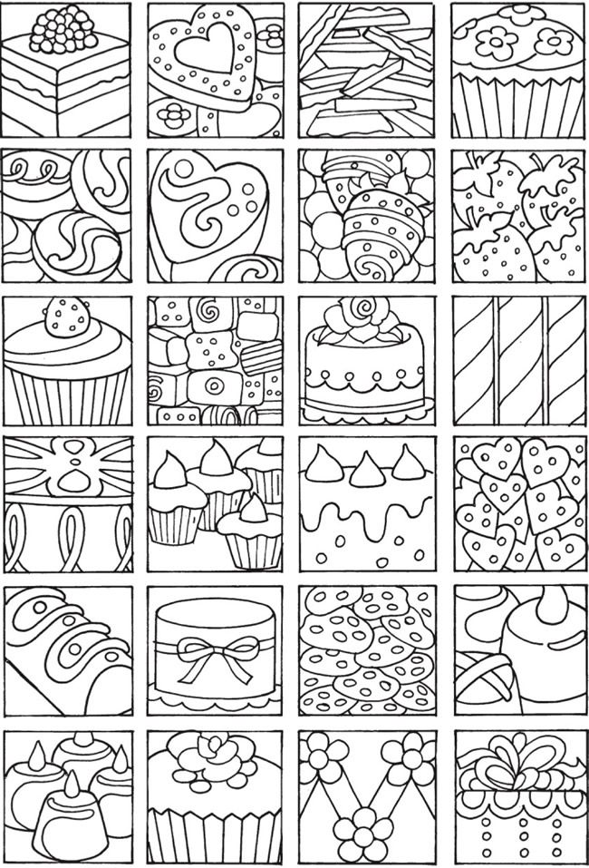 Welcome To Dover Publications Bliss Sweets Coloring Pages Coloring Books Food Coloring Pages