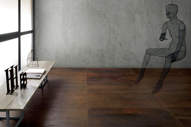 OXYDE | #Metal has always been a #favourite with #Interior #Designers. #OXYDE is #porcelain #stoneware that has the look of metal, for extremely #modern and #elegant #combinations of #textures.