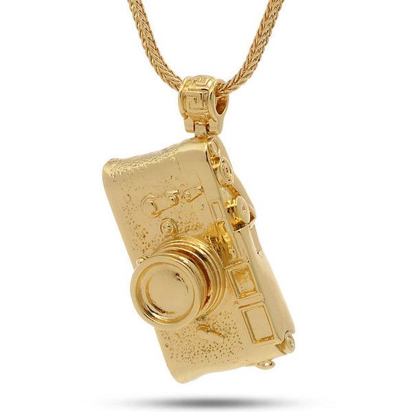 King Ice 14K Gold Vintage Camera Necklace (3.605 RUB) ❤ liked on Polyvore featuring men's fashion, men's jewelry, men's necklaces, gold, mens yellow gold cross necklace, 14k gold mens necklace, mens pendant necklace, mens gold pendant necklace and mens vintage necklaces