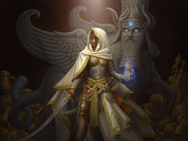 Looks Like Theros Artwork Is This Elspeth And Sphinxs Disciple