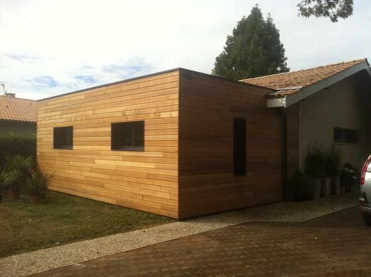 Extension De Maison Sur La Région Bordelaise Red Cedar Par Cube In Life