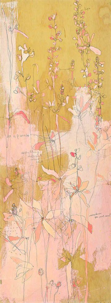 Likin' Loopin' Canvas Print by Jennifer Mercede 36X12