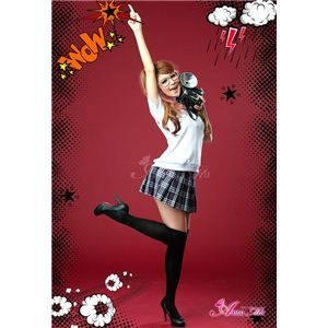 コスプレ 2012年新作 ベスト付ネイビーチェック女子高生制服 コスチューム/z912/衣装 - 拡大画像