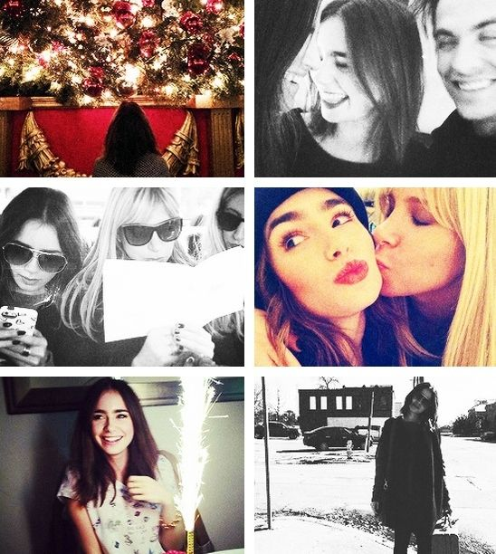 lily collins + instagr...