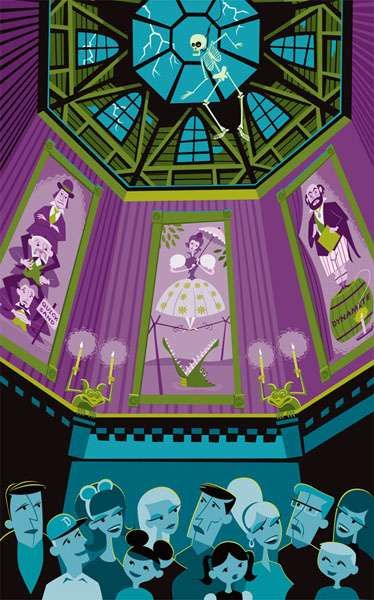 Art Tributes for Disneyland Rides - SHAG Honors Haunted Mansion's 40th (GALLERY)