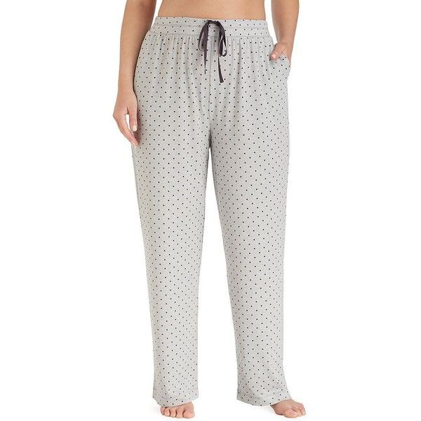 Plus Size Cuddl Duds Pajamas: Essentials Pajama Pants ($29) ❤ liked on Polyvore featuring plus size women's fashion, plus size clothing, plus size intimates, plus size sleepwear, plus size pajamas, med grey, plus size, plus size sleep wear, plus size jerseys and cuddl duds