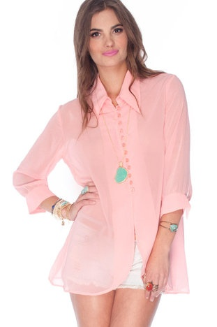 Easy Button Down Blouse in Pink $30 at www.tobi.comFashionista, Join Toby, Easy Buttons, Favorite Shades, Blouses 44, Pink, Blouses 22, Fashion Styl, Products
