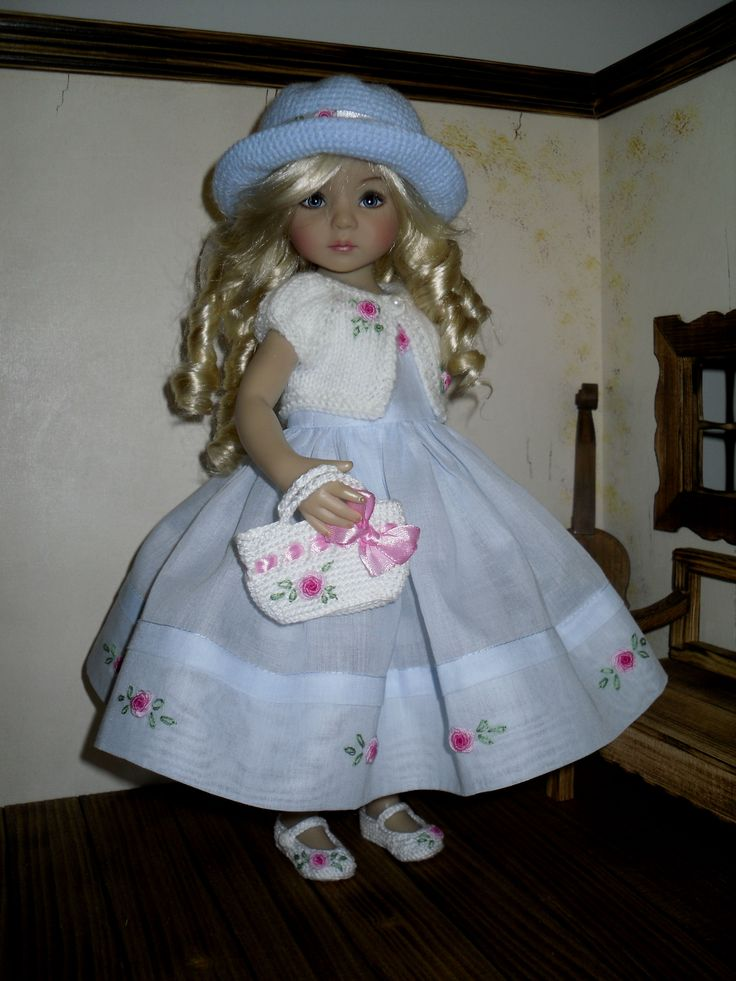 Details about Embroidered rose set for Dianna Effner Little Darling 13 inches doll
