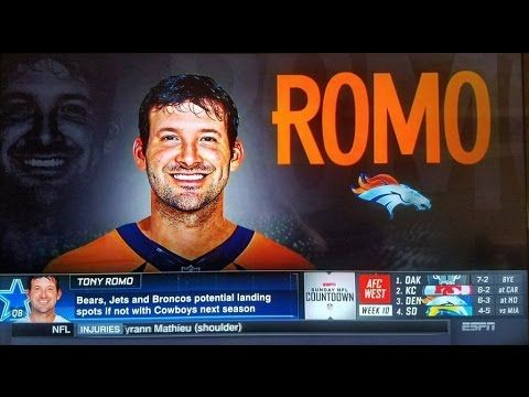 Tony Romo in Chicago, New York, Denver Let the speculation begin!
